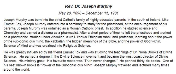 Joseph Murphy Bio