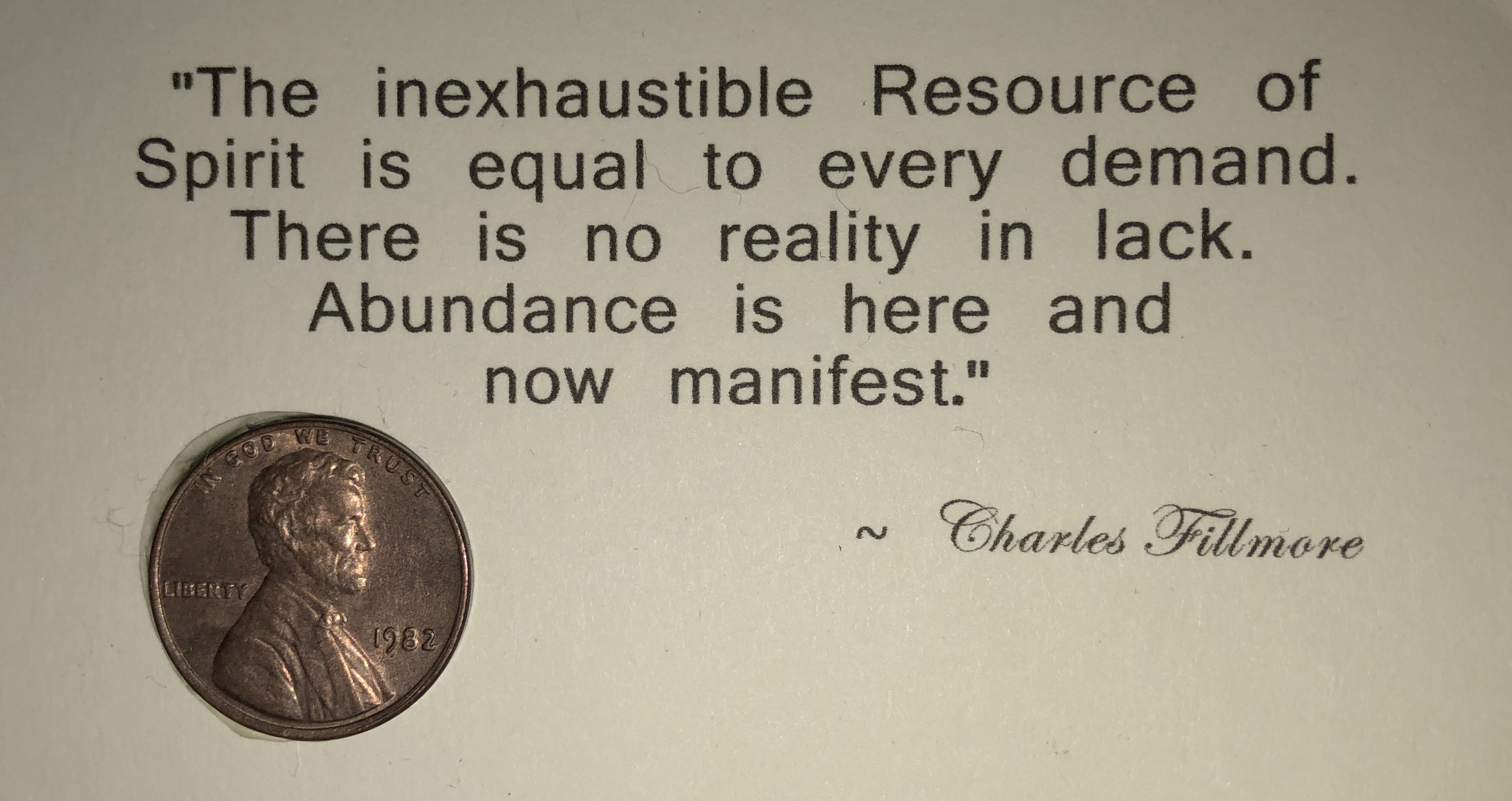 Charles Fillmore Unity Abundance Prosperity Spiritual law